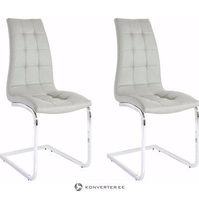 Bruno chair 2-pack grey PU