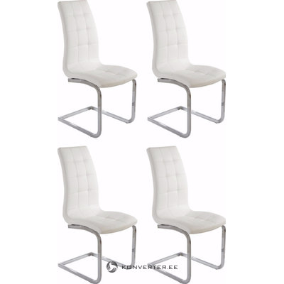 Bruno chair 4-pack white PU