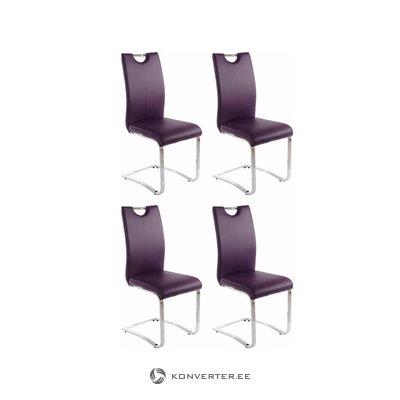 Silvana chair 4-pack purple PU