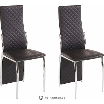 William Chair 2 pack - Black