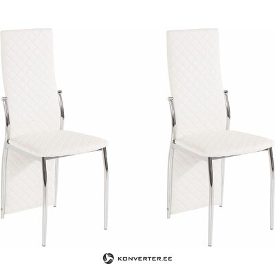 William Chair 2 pack - White