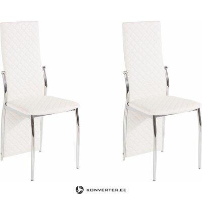 Белый мягкий стул с высокой спинкой