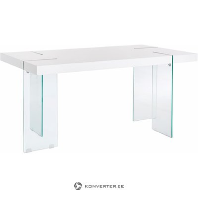 Triton table 160cm high/glass
