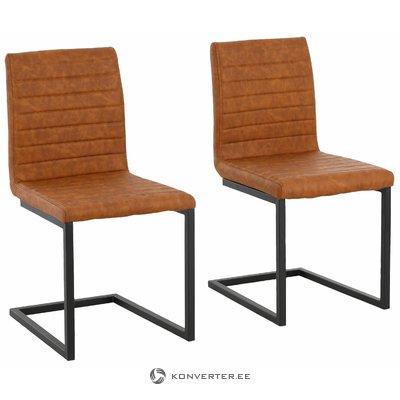 Sandra Dining Chair cognac PU / metal / set of 2