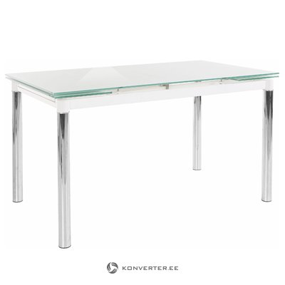 Pippa Dining Table - White Glass
