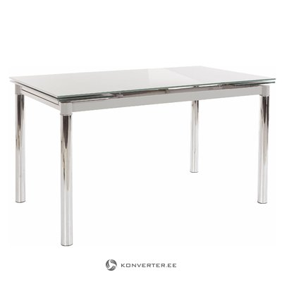 Pippa Dining Table - Grey Glass