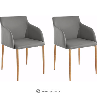 Nimbus armchair-grey/oak base
