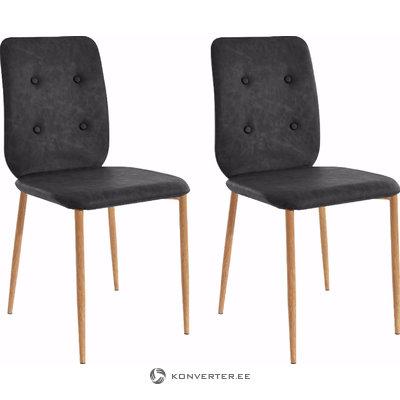 Largo chair-Anthracite/Oak