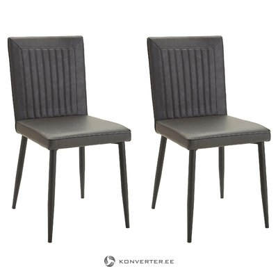 Fonta chair 2 pack - Anthracite PU