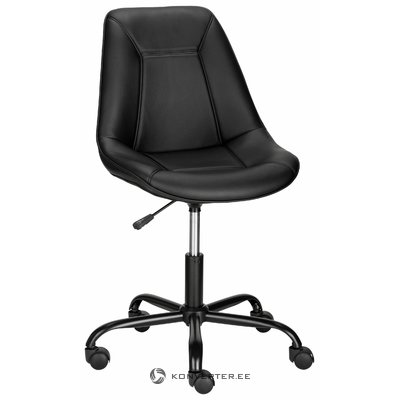Carl office chair pu - black