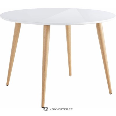 Canton Table white high gloss / metal