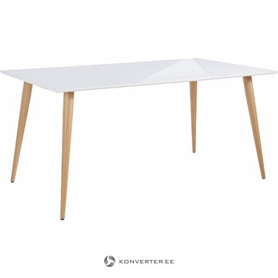 Canton Table white high gloss / metal