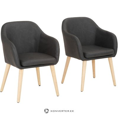 Puch Armchair 2 pack - Grey PU