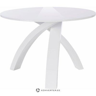 Omar Table round white high high gloss