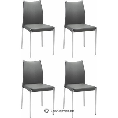 Zulu Chair 4 pieces - grey