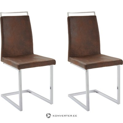 Jasmine Chair 2 pack - Microfiber Brown