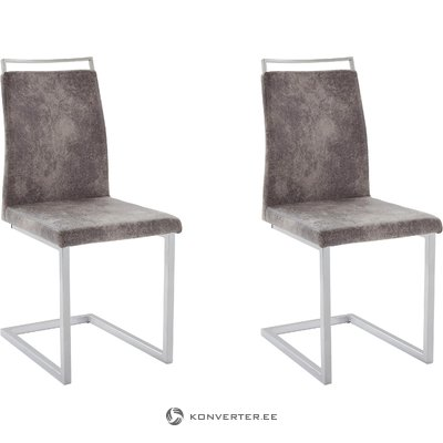 Jasmine Chair 2 pack - Microfiber Light Grey