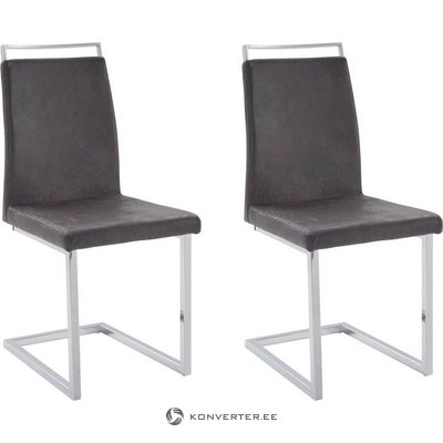 Jasmine Chair 2 pack - Microfiber Anthracite