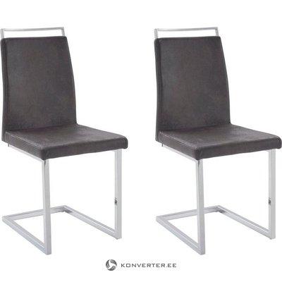 Jasmine Chair 2 pack - Microfiber Anthracite