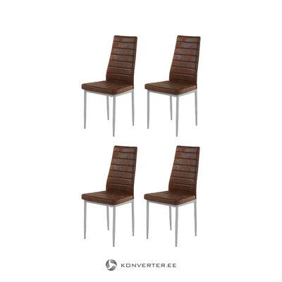 Kiko Chair 2 pack - Microfiber Brown