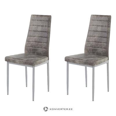 Kiko Chair 2 pieces - Microfiber Light Grey