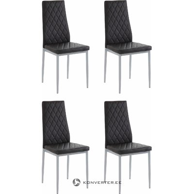 Barak Chair 4 pairs - black