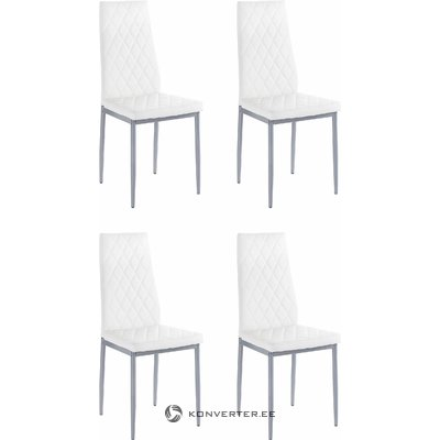 Barak Chair 4 pairs - white