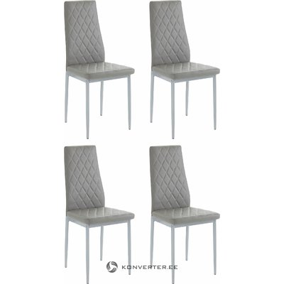Barak Chair 4 pairs - grey