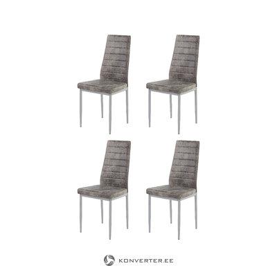 Kiko Chair 4 pack - Microfiber Light Grey