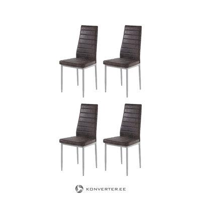 Kiko Chair 4 pack - Microfiber Anthracite