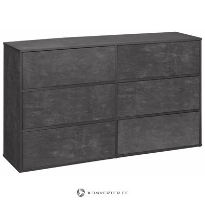 Lancaster Chest 2x3 Drawers - Beton
