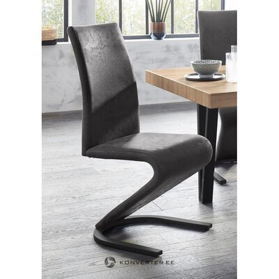Dark gray design chair (ziri)