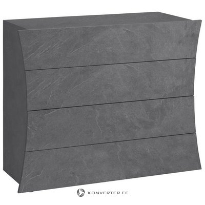 Anthracite high-gloss chest of drawers (arco) (hidden in beauty box)