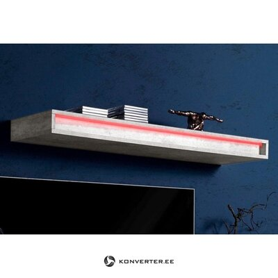 Light high-gloss wall shelf