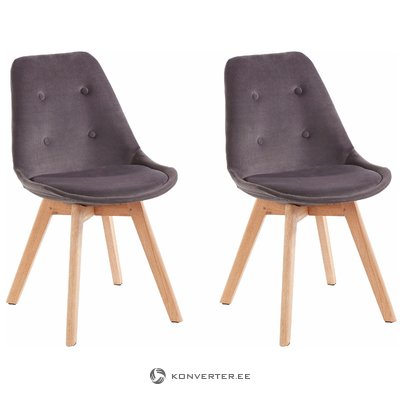 Ohio 2 pack chair - Dark grey