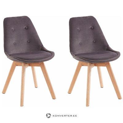 Ohio 2 pack chair - dark gray