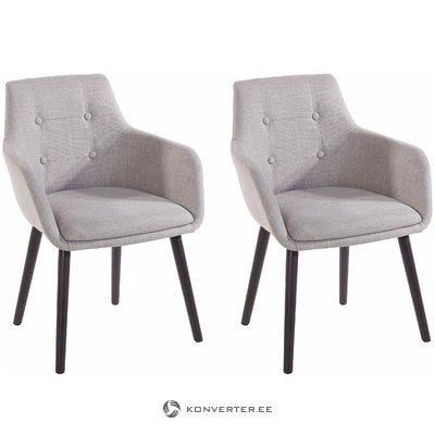 Buckley 2 pack chair - Light grey