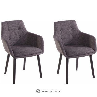 Buckley 2 pack chair - Dark grey