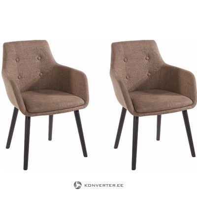 Buckley 2 pack chair - Cappuccino