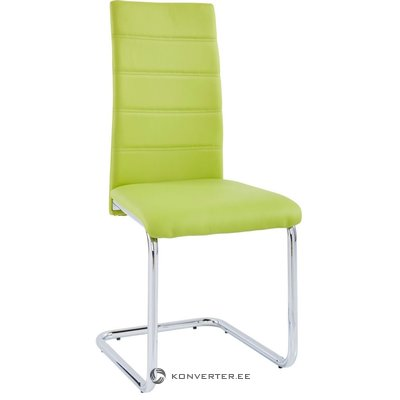 Amber chair 2 pack - green/chrome