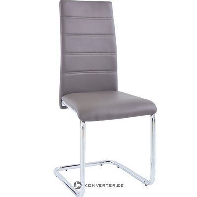 Amber chair 2 pack - cappuccino/chrome