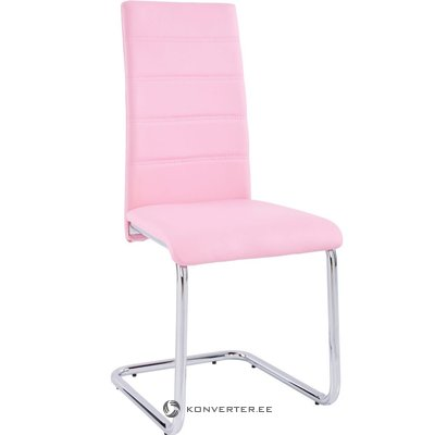 Amber chair 2 pack - pink/chrome