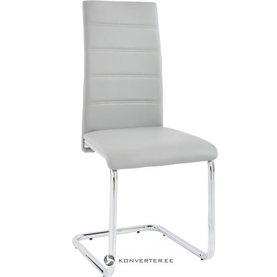 Amber chair 2 pack - light grey/chrome