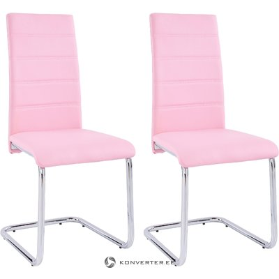 Amber chair 4 pairs - pink/chrome