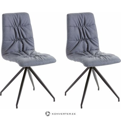 Claudia Chair 2 pack PU - blue