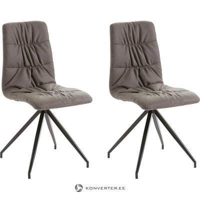 Claudia Chair 2 pack PU - brown
