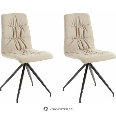 Claudia Chair 2 pack PU - creme