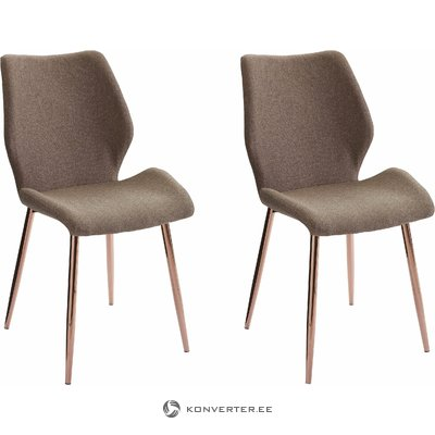 Astor Chair 2 pack Fabric - Cappuccino