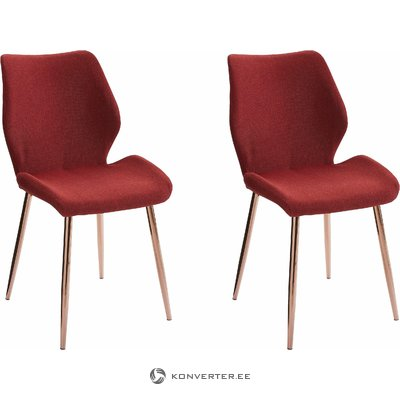 Astor Chair 2 pack Fabric - Red