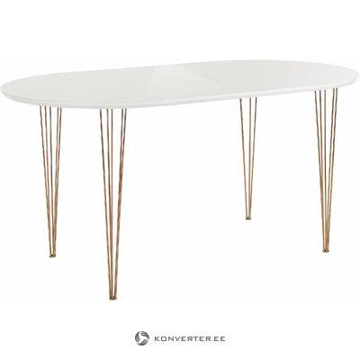 Elliot table 120 cm - High Gloss Stain/Wax